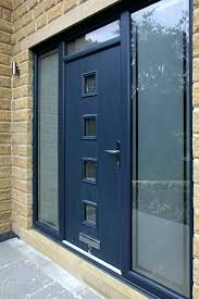 aluminum front entry doors front door bespoke composite door in grey with integrated side panels and aluminum front entry doors
