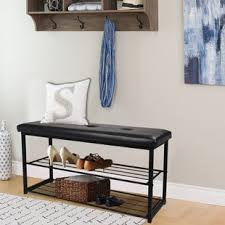 Entry benches shoe storage Small Entryway Quickview Kingsvillagepinsclub Entryway Bench Shoe Rack Wayfair