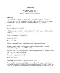 Personal Trainer Resume Template Simple Personal Training Resume Sample Sales Trainer Resume Sample Fitness