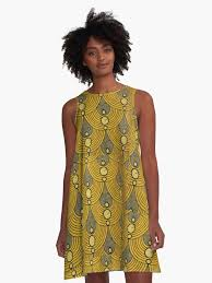 African Pattern Dress Interesting Capulana An African Pattern ALine Dress By Jcaladolopes Redbubble