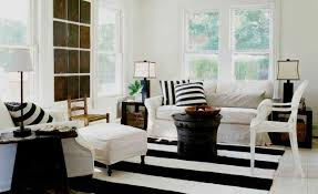 Cold and Bright Black And White Rug That Create Luxurious Look