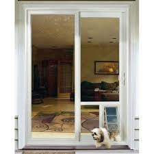 Backyards : Installing Sliding Glass Dog Door Decorative A Doggie ...
