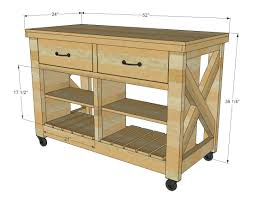 rustic kitchen island cart beautiful ana white