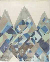 contemporary rugs custom tibetan everest blue deco inpired geometric 15x12 n11683