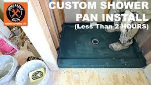 custom shower pans by kbrs
