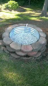 pit cement landscape blocks building cinder block diy bowl fire fulgurant