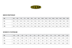 Keen Womens Shoe Size Chart Sock Shoe Conversion Online Charts Collection