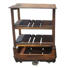 wooden rolling cart french industrial wooden rolling cart for wooden rolling storage cart with drawers