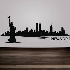 liberty bedroom wall mural: buy new york city skyline silhouette wall decal