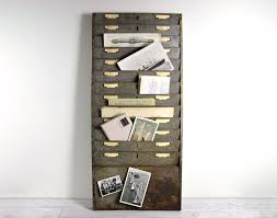 Industrial Wall Decor Vintage Large Industrial Wall File Or Magazine Rack