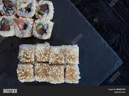 Sushi Cook Process Making Maki Image Photo Free Trial Bigstock