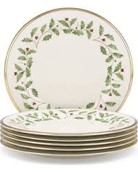 lenox holiday china. Perfect China Lenox Holiday Ivory Bone China Dinner Plate With Gold Rim Set Of 6 With R