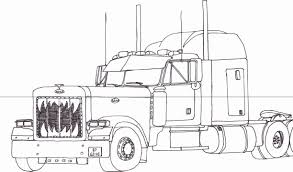 peterbilt semi truck coloring page drawing sketch pages jpg 1224x721 peterbilt truck drawings