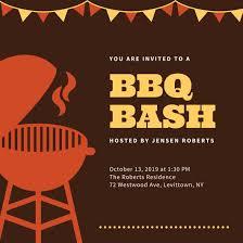 Bbq Poster Customize 107 Bbq Invitation Templates Online Canva