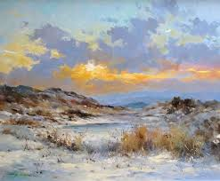 beckstones art gallery winter sunset at blakey ridge north yorkshire