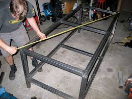 welding table build assemble legs measure photo 17257057