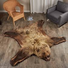 6 Foot 0 inch (183 cm) Grizzly Bear Rug #7000652-02 ...