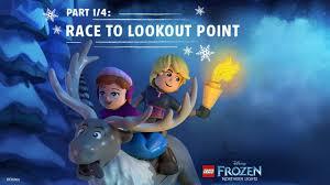 Lego Frozen Northern Lights 2016 Lego Disney Frozen Northern Lights Part 1 4 Race To Lookout Mountain Disney