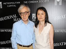 ronan farrow pens blistering essay about woody allen getting in still going strong woody and wife soon yi previn in at the premiere