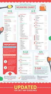 now updated 2017 aap guidelines for introducing highly allergenic foods baby weaning chart for 4 to 12 months of solid foods katfrenchdesign