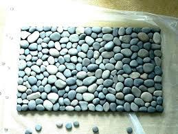 pebble stone rug pebble bath mat rock stone rug a zen river pebble stone