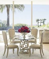 aico after eight pearl round shaped gl top dining table set dining room