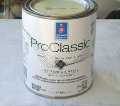 sherwin williams proclic and promar is the best oil based paint to use for furniture