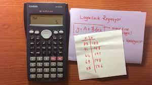 Bilimsel Hesap Makinesi 9 - Logaritmik Regresyon (Calculator Tutorial 9) -  YouTube