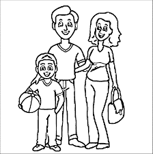 Family Mother Father Son Family Coloring Page Wecoloringpage