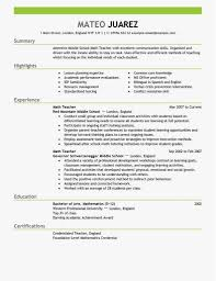 Resumes For Teachers Professional Contemporary Design Resume