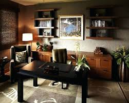 combined office interiors. Cozy Home Office Ideas Original Wooden Interiors On Brown Rug Combined With Diy Decorating Decoration Games H