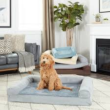 FurHaven Plush & Suede Sofa-Style Orthopedic Bolster Pet Bed - Free  Shipping On Orders Over $45 - Overstock.com - 19678114