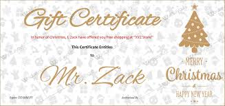 Free Customizable Gift Certificate Template Christmas Gift Certificate Templates Best Designs Editable