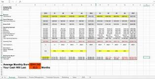 Pricing Model Excel Template Basic Startup Cost Model