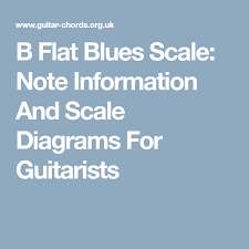 Blues Charts Uk B Flat Blues Scale Note Information And Scale Diagrams For