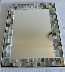 mosaic mirror frames frame diy designs inspiring applied your residence furniture winsome home decor glass tile with reg