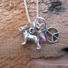 french bulldog mini peace sterling silver necklace