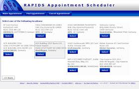 select a date appointments are available shown in green