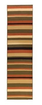 custom size stair hallway runner rug multicolor stripes rubber back hallway carpet runners