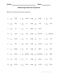 50 balancing equations worksheet capable balancing equations worksheet see the completed sheet check out our other