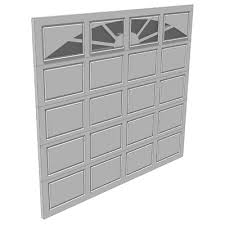 single garage doorGarage Doors 3D Model  FormFonts 3D Models  Textures
