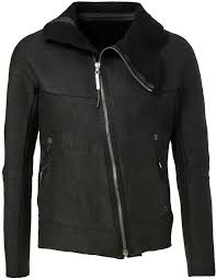 experience wool lined leather jacket