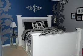 cozy painted wall headboard ideas great pictures of blue and black bedroom design decoration girl easy