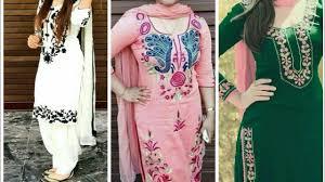 New Latest Punjabi Suit Design 2019 Latest Embroidery Suit Designs 2018 2019 Punjabi Suit