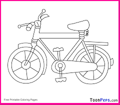 Bike Coloring Pages : Kids Coloring - Free Kids Coloring