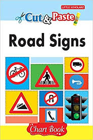 Amazon In Buy Cut Paste Road Signs Chart Book Book