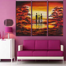 Small Picture Aliexpresscom Buy Hand Painted Pictures Abstract India