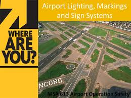 airport lighting markings and sign systems