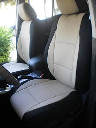 get ations two front mix leatherette middle synthetic sides custom car seat covers