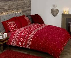 stag snowflake duvet quilt cover bedding set white red duvet cover canada